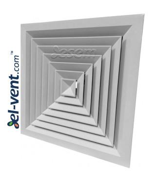Aliuminiai lubiniai difuzoriai SQUARE-A