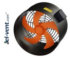 High performance external rotor axial duct fan EDRPKT150, Ø150 mm