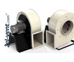 Acidic environment resistant centrifugal fans EFPGA  ≤12000 m3/h
