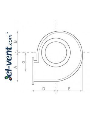 Centrifugal fans with stainless steel body CAI ≤1450 m³/h - drawing