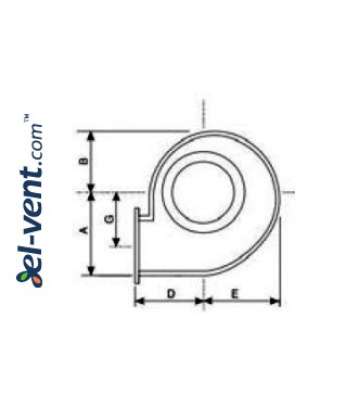 Centrifugal fans CB ≤1450 m³/h - drawing No.1