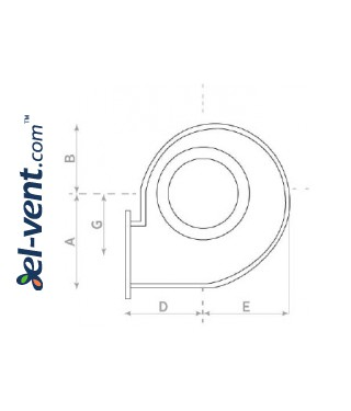 Explosion proof centrifugal fans CS EX-ATEX  ≤9100 m³/h - drawing No.1