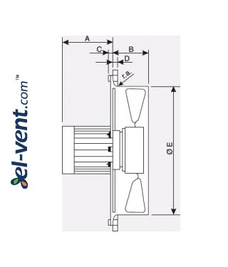 Explosion proof axial fans EB EX-ATEX  ≤4500 m³/h - drawing No.1