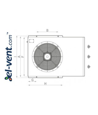 Induction smoke exhaust fans PVI-HT - drawing No.1