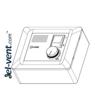Fan speed controller reversible RG 5 AR 0.4 A, 100 W, 1