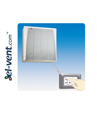 Window fan with automatic shutter SMART Wi-Fi - management
