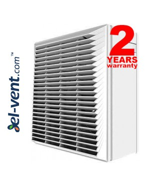 Window fan with automatic shutter SMART
