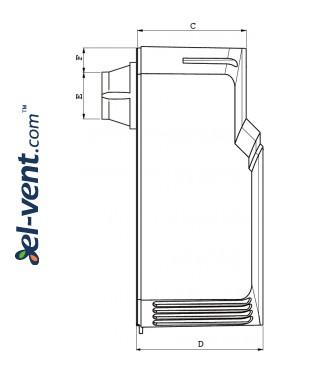 Brėžinys Nr.2 Tempero100, Ø100 mm