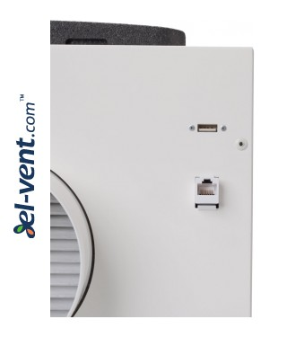 Heat recovery unit Oxygen X-Air, 191 m³/h - connections