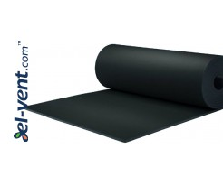 Rubber acoustic insulation for ductwork that prevents condensation