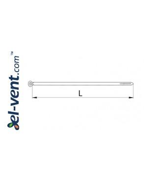 Nailoninės sąvaržos NAS430/4.8/100, (100 vnt.) - brėžinys