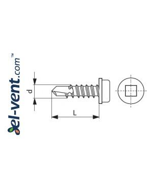 Steel self-drilling screws WGO13/4.2IB (1000 pcs.) - drawing