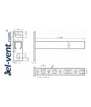 Консольные опоры для воздуховодов AKT - чертеж