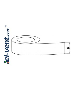 Adhesive tape (aluminium foil) AL50-50-350, 5cmx50m, 350 °C - drawing