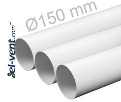 Plastic duct EKO150/10, Ø150 mm, 1.0 m