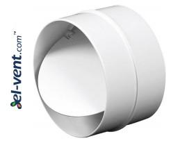 Plastic back draught damper EKO125-22, Ø125 mm