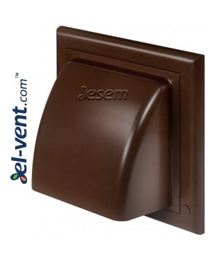 Exhaust vent cover - brown