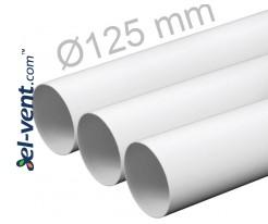 Plastic duct EKO125/10, Ø125 mm, 1.0 m