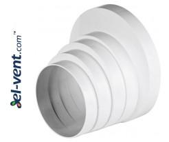 Duct reducer ERKO, Ø100/110/120/125/150 mm