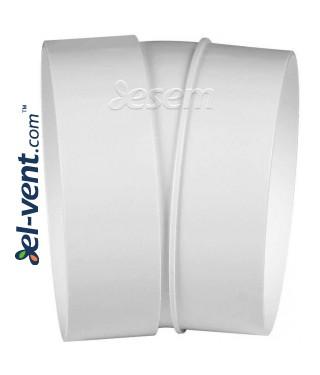 Plastic duct elbow EKO-23, 15°