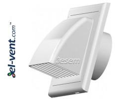 Lauko ventiliacijos grotelės su atbuliniu vožtuvu EKO white