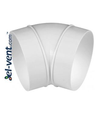 Duct elbow EKO100-23/45, Ø100 mm, 45°