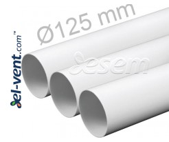 Plastic duct EKO125-05, Ø125 mm, 0.5 m