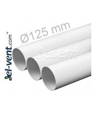 Plastic duct EKO125-15, Ø125 mm, 1.5 m