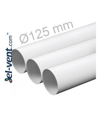 Plastic duct EKO125-05, Ø125 mm, 0.5 m