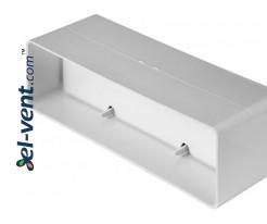 Plastic back draught damper EKO204-22, 60x204 mm