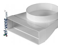 Alkūnė EKO204-23/150, Ø150 mm, 60x204 mm, 90°