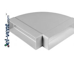 Horizontal elbow EKO204-24/90, 60x204 mm, 90°