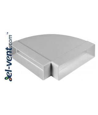 Alkūnė horizontali EKO204-24/90, 60x204 mm, 90°