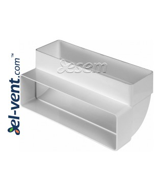 Колено вертикальное для пластикового воздуховода EKO-P-204-25, 60x204 мм