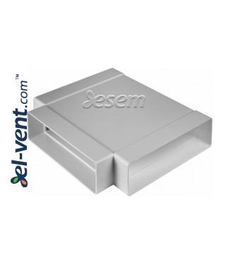 T-piece for plastic duct EKO-P-204-26, 60x2040 mm