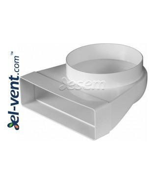 Plastikinė ortakio alkūnė EKO-P-204-23/150, Ø150x60x204 mm