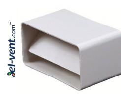 Plastic back draught damper EKO120-22, 60x120 mm