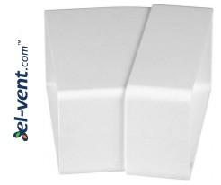 Horizontal elbow EKO55-24/15, 55x110 mm, 15°