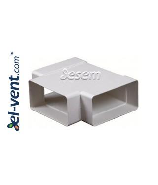 T тройник для пластикового воздуховода EKO-P-55-26, 55x110 мм