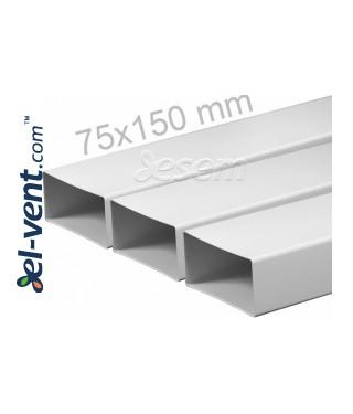 Plastikinis ortakis EKO75-10, 1.0 m, 75x150 mm