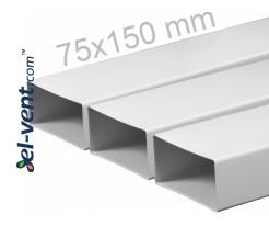 Plastikinis ortakis EKO75-15, 1.5 m, 75x150 mm