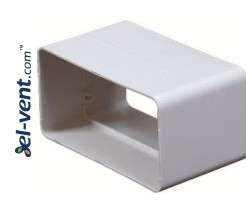 Rectangular duct connector EKO120-21, 60x120 mm
