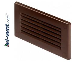 Vent cover EKO120-30BR, 60x120 mm