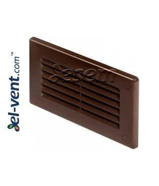 Vent cover for flat plastic duct EKO-P-55-30, 55x110 mm brown