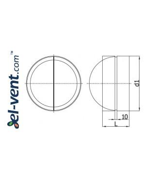 Backflow valve EAV125, Ø125 mm - drawing