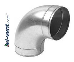 Elbow A125/90, Ø125 mm, 90°