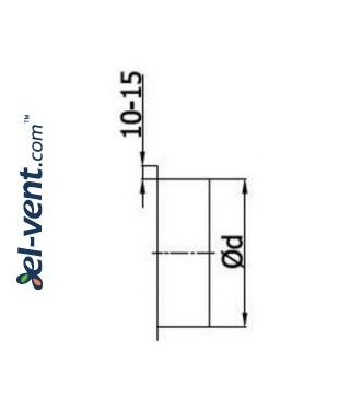 Adapter PA100, Ø100 mm - drawing