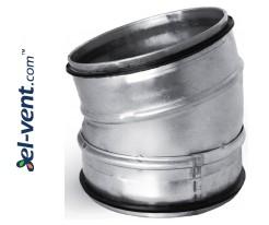 Elbow EAG125/15, Ø125 mm, 15°