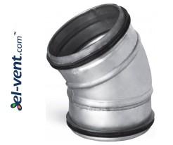 Elbow EAG125/30, Ø125 mm, 30°