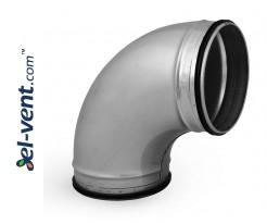 Elbow EAG100/90, Ø100 mm, 90°
